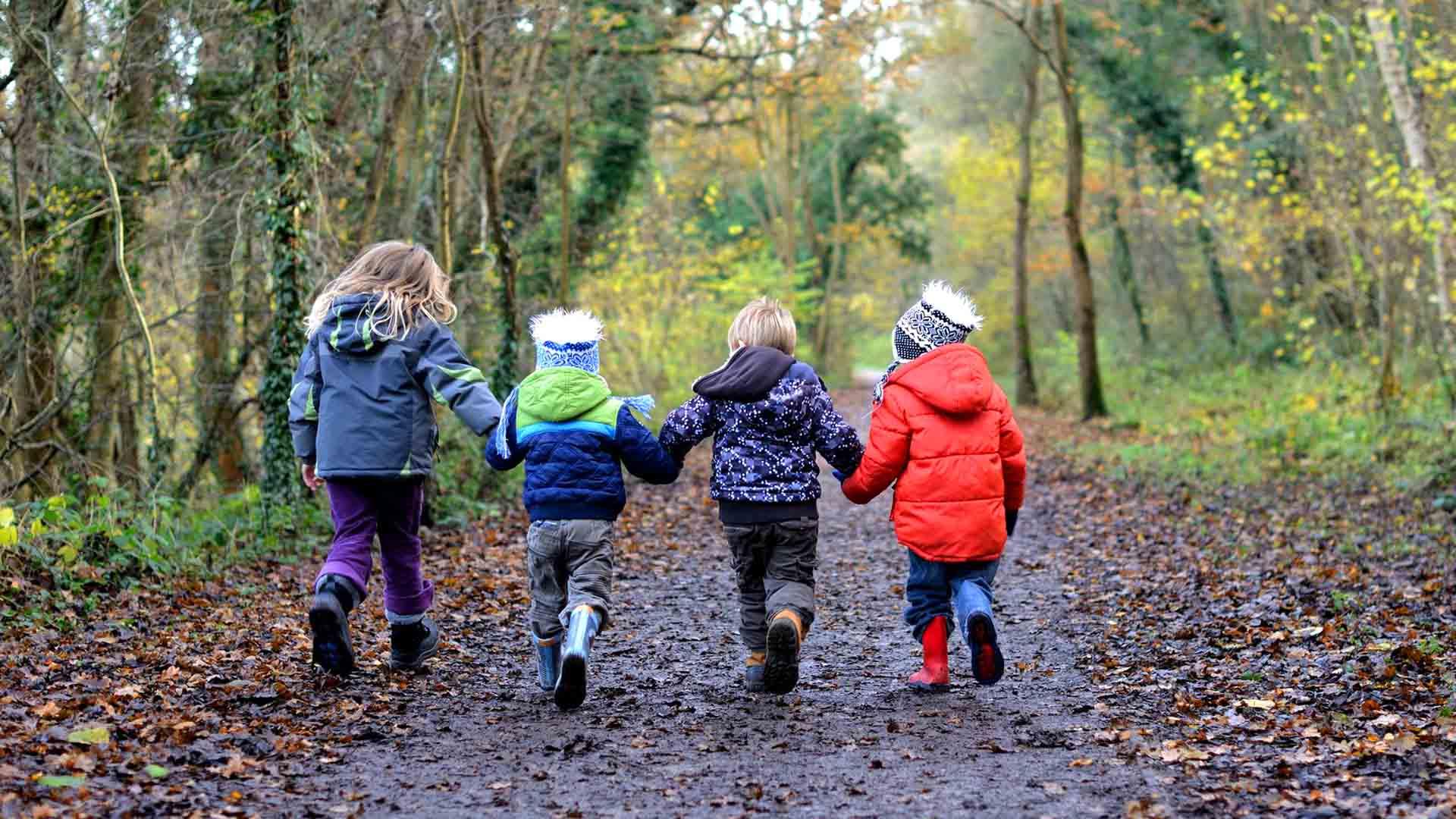 trek e bambini val di merse