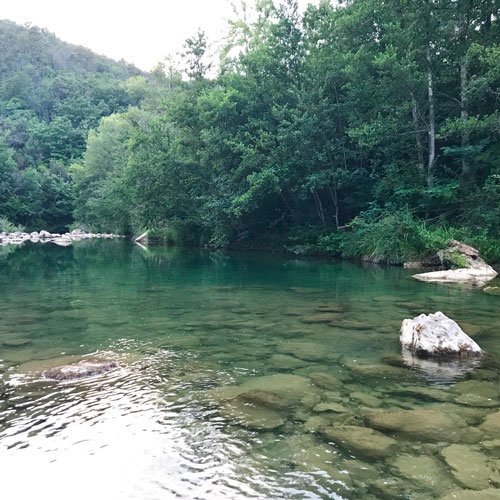 Hiking and Bathing