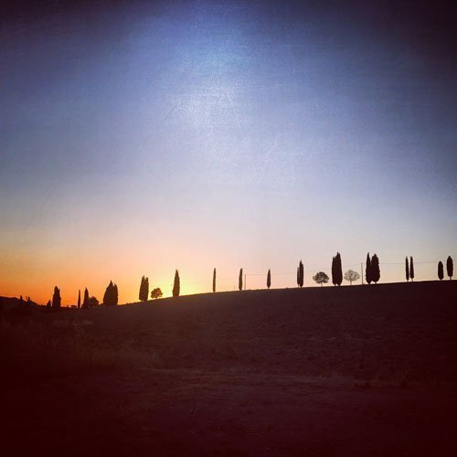 trekking tramonto toscana